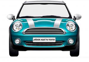 photocall de cartón coche azul retro