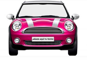 photocall de cartón coche rosa retro