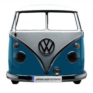 photocall furgoneta azul retro