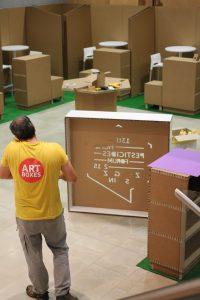 arquitectura efímera cartón artboxes