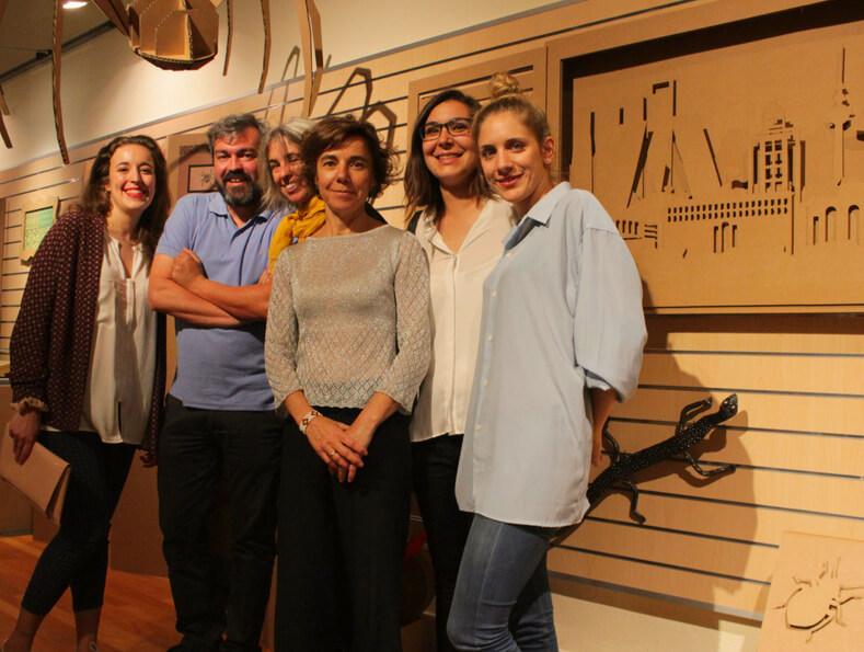 Diseños en cartón museo ciencias naturales madrid compañeros de piso