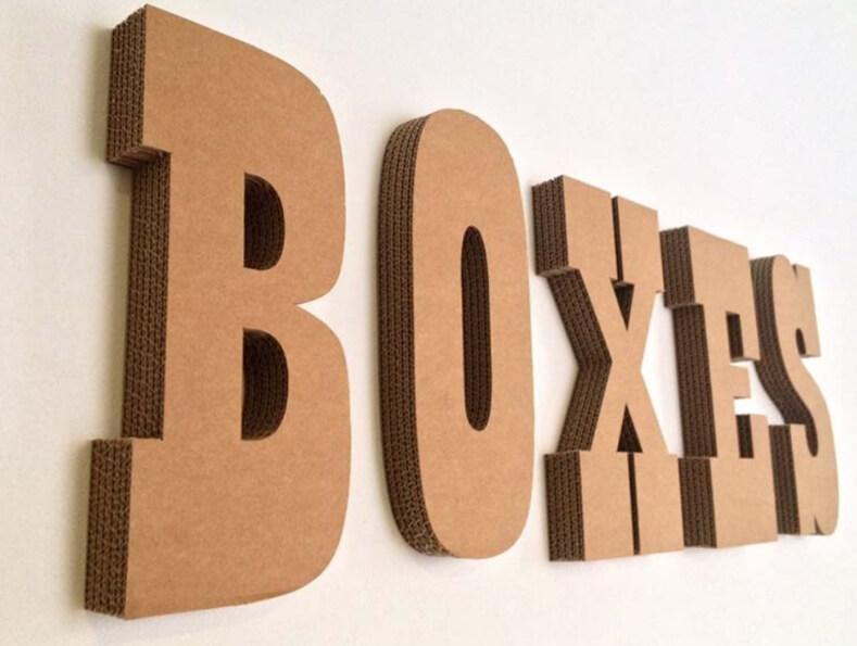 lettering en cartón