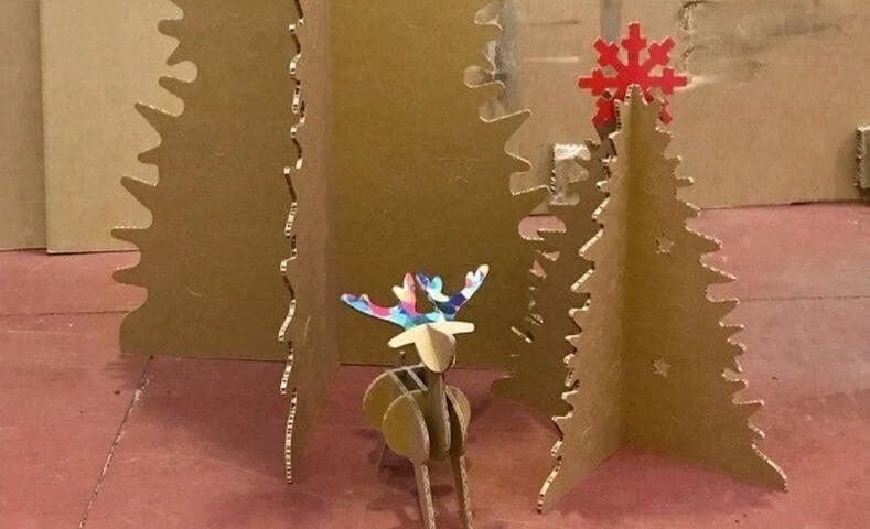 Diseño de cartón Navidad